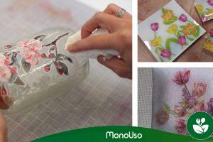 Jak ozdobić szkło papierowymi serwetkami