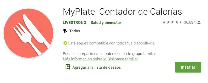 MyPlate: Contador de Calorías